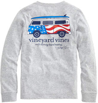 Vineyard Vines Boys USA Bus & Board Long-Sleeve T-Shirt