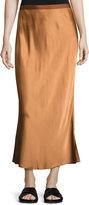 Helmut Lang Satin Midi Slip Skirt, Bronze