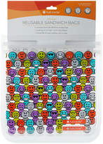 Full Circle Emoji Reusable Sandwich Bags - Set of Two