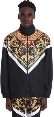 Versace Casual Jacket In Black Polyester