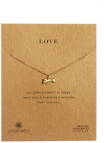 Dogeared 14K Gold Plated Love, Dogbone Bracelet