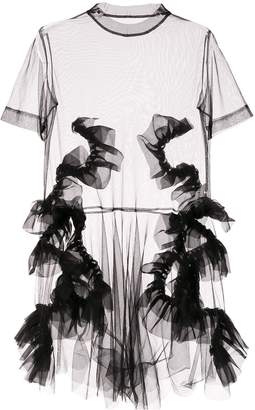Roberts Wood sheer tulle dress