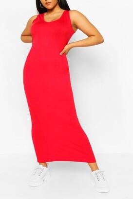 boohoo Plus Scoop Neck Jersey Maxi Dress