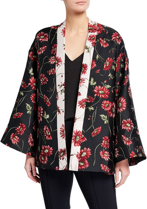 Adam Lippes Floral Jacquard Kimono Jacket