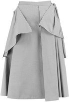 Rochas Layered pleated cotton and silk-blend skirt