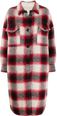 Etoile Isabel Marant Oversize Check Shirt Coat