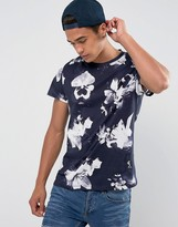 Religion Lily Floral Scoop Neck T-Shirt