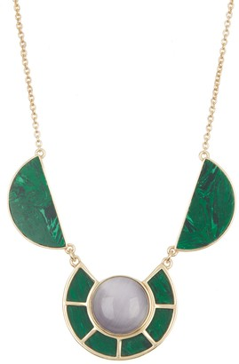 Sole Society Cabochon Stone Frontal Necklace