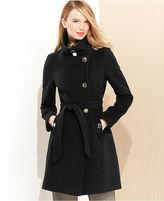Tahari Izzy Asymmetrical Wool-Blend Coat