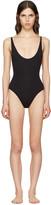 Proenza Schouler Black Lace-back Swimsuit