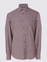 Blue Harbour Pure Cotton Brushed Flannel Shirt