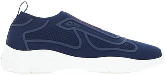 Prada America's Cup Patterned Logo Slip On Sneakers