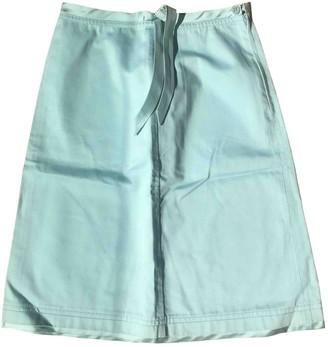 Tara Jarmon Turquoise Cotton Skirt for Women