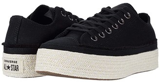 Converse Chuck Taylor All Star Espadrille - Ox (Black/White/Natural) Women's Shoes