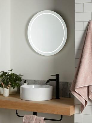 John Lewis & Partners Frame Wall Mounted Illumintaed Bathroom Mirror, Round