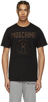 Moschino Black Cut-out Logo T-shirt