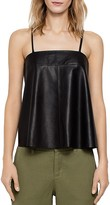 Zadig & Voltaire Cali Deluxe Leather Camisole Top
