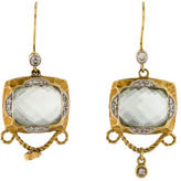 Meira T Prasiolite & Diamond Drop Earrings