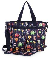 Le Sport Sac Ryan Zoo-Print Nylon Diaper Bag