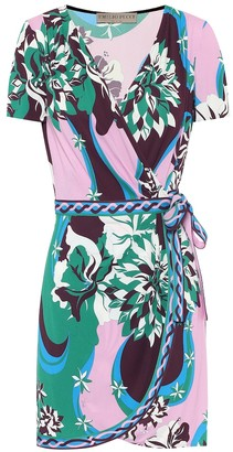 Emilio Pucci Printed crepe wrap dress