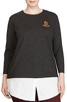 Lauren Ralph Lauren Plus Layered Bullion-Crest Top
