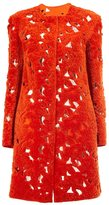 Giambattista Valli single breasted coat - women - Silk/Lamb Skin - 40