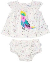 Infant Girl's Rosie Pope Bird Polka Dot Shirt & Shorts