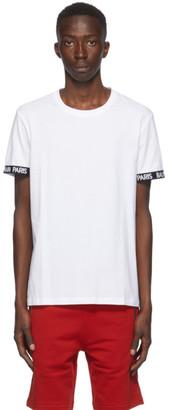 Balmain White Logo Trim T-Shirt