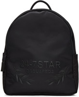 DSQUARED2 Black Embroidered Backpack