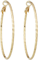 Lydell NYC Textured Hoop Earrings, Gold