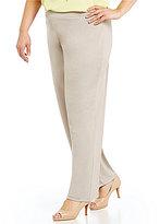Kasper Plus Knit Concepts Pull On Wide-Leg Pants