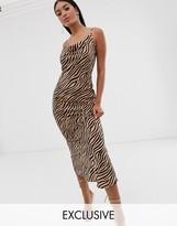 Pretty Lavish maxi cami dress in tiger print