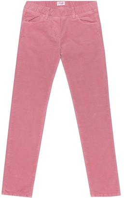 Il Gufo Stretch-cotton velvet pants