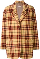 Emporio Armani Pre Owned 1980's plaid quilted jacket