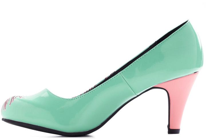 Proudly Posh Heel in Mint