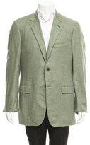 Belvest Herringbone Wool-Blend Blazer