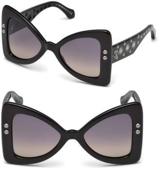 Roberto Cavalli 50MM Oversize Butterfly Sunglasses