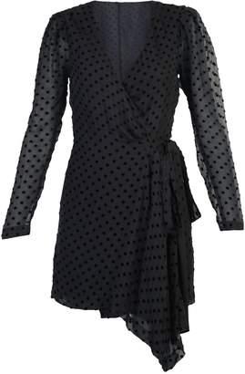 IRO Wrapped Polka Dot V-Neck Dress