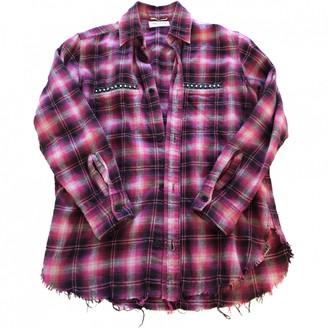 Saint Laurent Pink Cotton Top for Women
