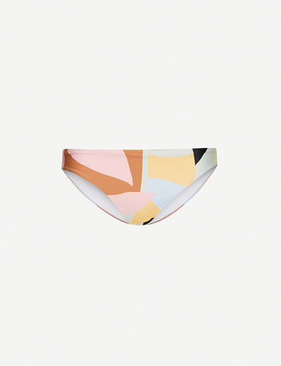 Self-Portrait Abstract-geometric pattern mid-rise bikini bottoms