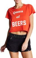 The Laundry Room Queen of Beers Crop Rolling Tee