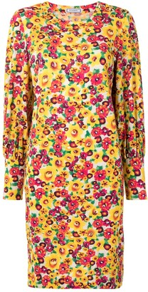 Yves Saint Laurent Pre-Owned Floral Print Shift Dress