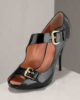 Buckled Patent Sandal