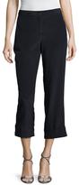 Miu Miu Silk Wide Cuff Crop Pant