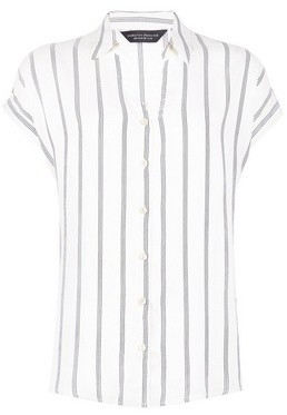 Dorothy Perkins Womens White Stripe Print Shirt, White