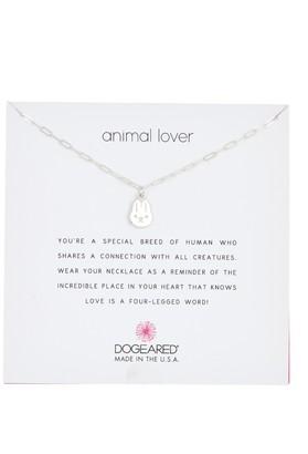 Dogeared Sterling Silver Honey Bunny Pendant Necklace