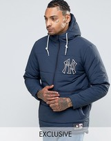 Majestic Yankees Padded Overhead Jacket Exclusive To Asos