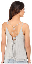 Culture Phit Anja Layered Sheer Jersey Tank Top
