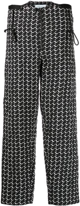 Christian Wijnants Wave-Print Trousers