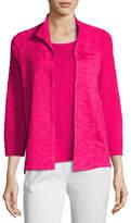 Misook Textured 3/4-Sleeve Jacket